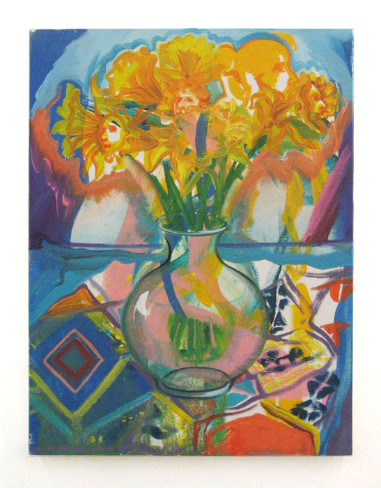 Andy Cross,  Flower Life #1 , 2010, oil on canvas, 16 x 12 in