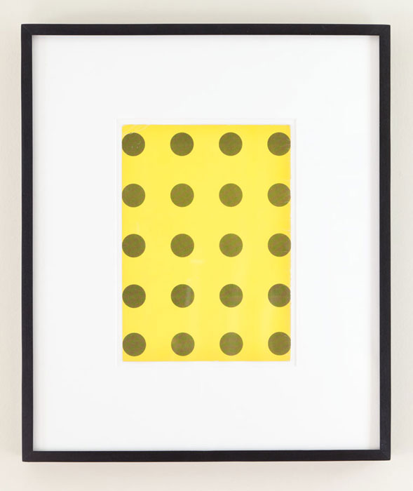 Matthew Higgs,  Ultra Mundane , 2008, framed book cover, 20 x 16.75 in