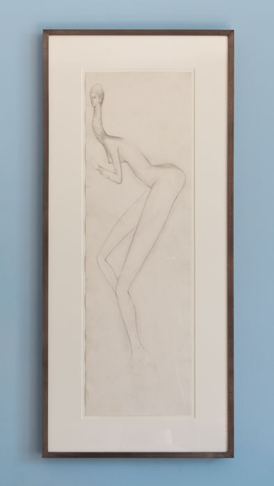 E'wao Kagoshima,  Untitled , 1970, graphite on paper, 25 x 5 in