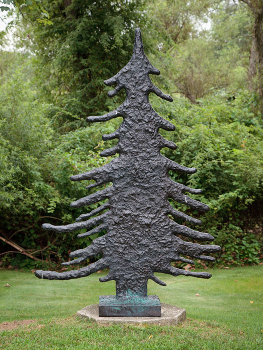 Donald Baechler,  Tree #1 , 2003-2004, cast bronze, 85 x 55 x 18 in, Edition of 8 plus II AP
