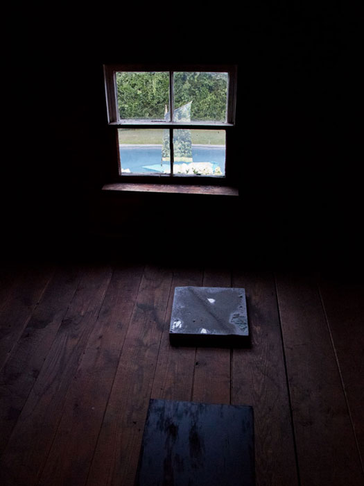 Davina Semo,  FOR A WHILE I WAS TRYING TO SAY YES TO EVERYTHING; ONE OF THE PLACES PEOPLE HIDE IS DEPRESSION; I MUST SUGGEST YOU GO ELSEWHERE FOR HELP; I ACT WITHOUT PERMISSION; WITH A ROLLING MOTION OF HER HAND, SHE GESTURED TO HIM TO GET ON WITH I , 2012, site-specific installation