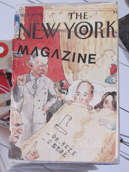 Justin Lieberman,  21 Issues of The New York Magazine  (detail), 2011-2012, mixed media, dimensions variable