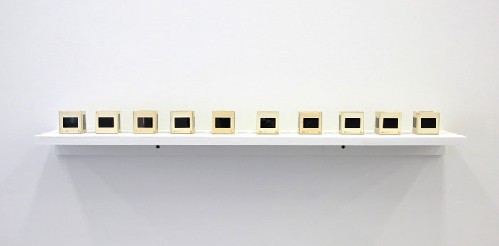 B. Wurtz,  10 - Slide Cube (from series) , 1979, 35 mm slides, dimensions variable