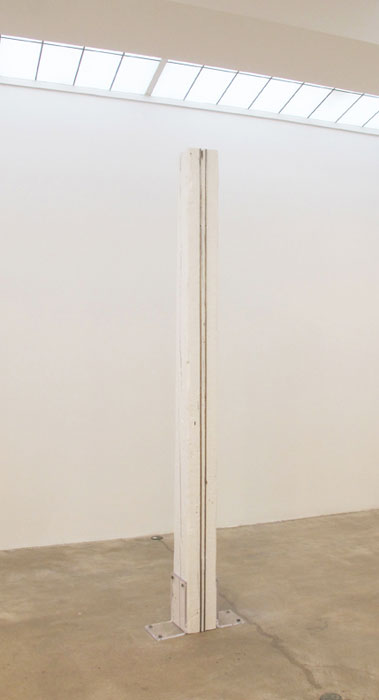 Elaine Cameron-Weir,  Untitled , 2011, wood, stainless steel, acrylite, 108 x 7 x 7 in