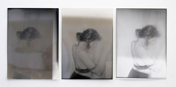 Ryan Foerster,  undressing woman - Hannah , 2011, silver gelatin prints, dimensions variable