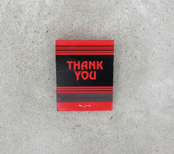Grayson Revoir,  Untitled , 2011, matchbook, dimensions variable