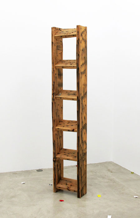 Grayson Revoir,  Spike van Cleve , 2011, wood, screws, 83 x 15.75 x 7.25 in