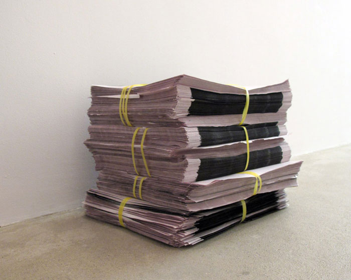 Bozidar Brazda,  Newsprint Poster,  2011, offset print on newspaper, dimensions variable