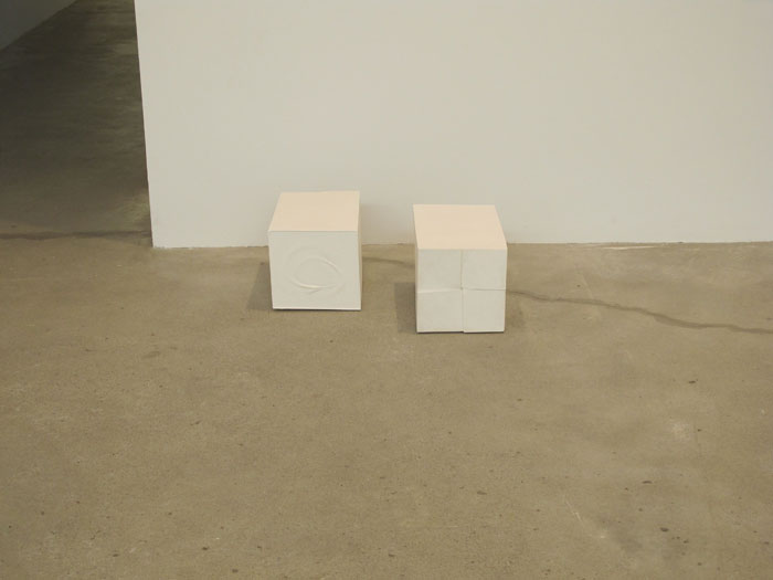 Nathaniel Robinson,  Untitled , 2010, gypsum cement, 8 x 19 x 13 in