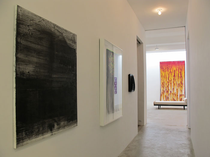 Installation view,  We Regret To Inform You There Is Currently No Space Or Place For Abstract Painting , Martos Gallery, New York, 2011