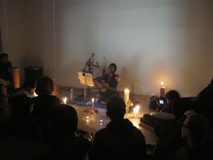 Installation view,  Untitled performance , Martos Gallery, New York, 2011