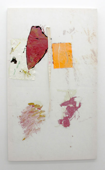 Leif Ritchey,  Untitled , 2010, acrylic and mixed media on tencel, 68 x 40 in