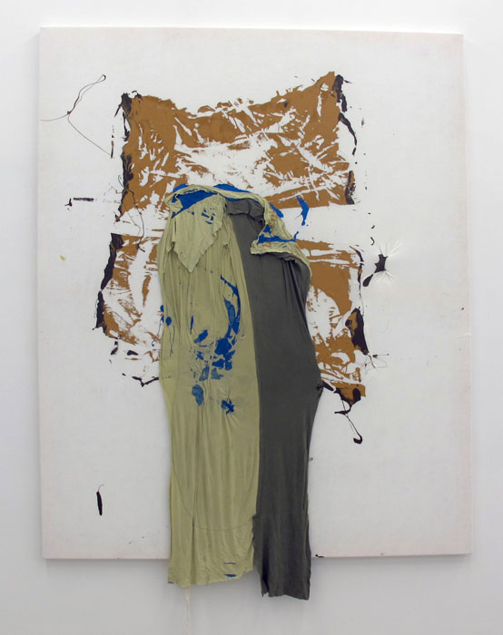 Leif Ritchey,  Couch Surf , 2010, acrylic and mixed media on tencel, 84 x 68 in