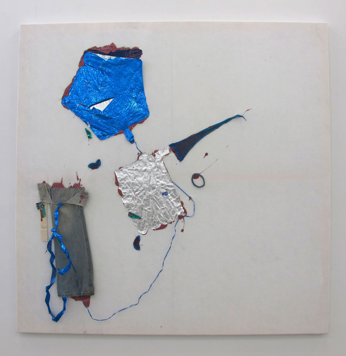 Leif Ritchey,  Teenage Runway , 2010, acrylic and mixed media on tencel, 68 x 68 in