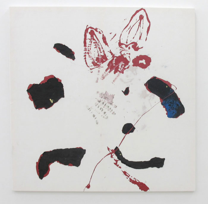 Leif Ritchey,  Wild Flowers , 2010, acrylic and mixed media on tencel, 68 x 68 in