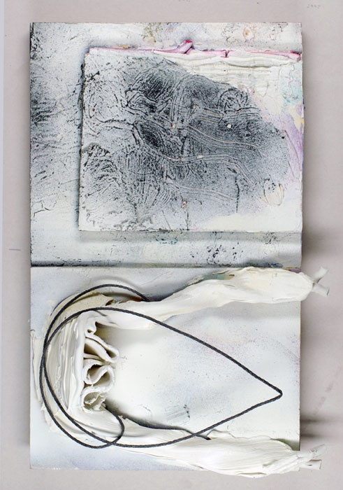 Joseph Montgomery,  Image Seventy Five , 2008 – 2010, Oil, clay, foam core and wire on panel, 12 3⁄4 x 10 1/8 x 2 in