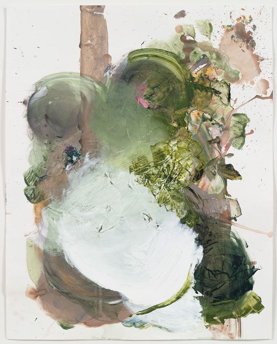 Elizabeth Neel,  Time Lapse , 2010, Acrylic on paper, 24 x 19 in