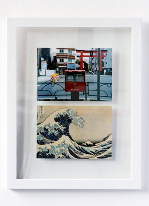 Guillaume Leingre,  216 TIMES HOKUSAI (detail) , 2008, 7 extracts from a series of 216 postcards, 216 photos, 13.25 x 10.5 in