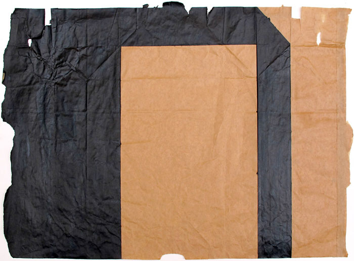 Ben Berlow,  Untitled , 2002, Acrylic on paper bag, 18 1⁄2 x 25 1⁄2 in
