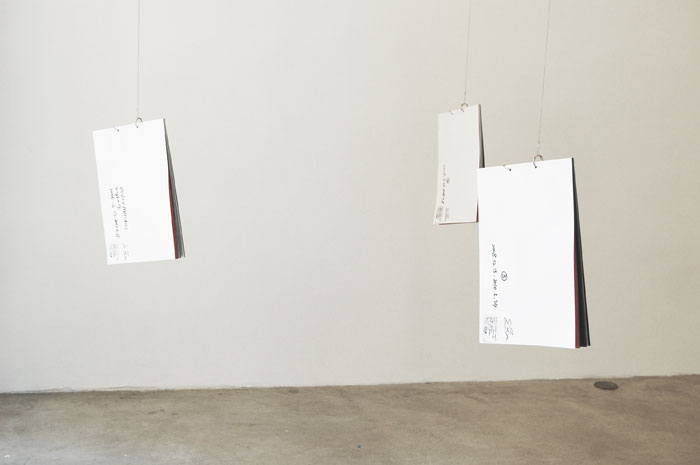 Masaya Chiba,  EMN (Every Monday Night) , 2006 – 2010, 3 Binding books of photocopies of drawings, 11.6 x 8.6 in each