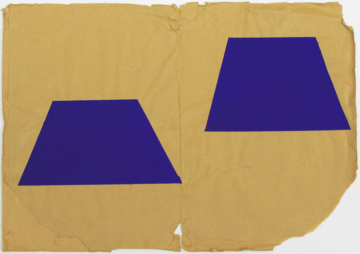 Ben Berlow,  Untitled , 2005, Acrylic on envelope, 12 1⁄2 x 17 7/8 in