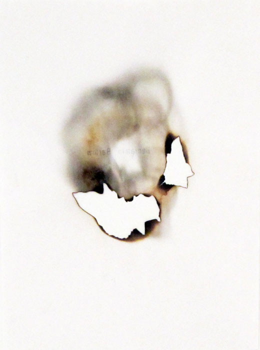 Ben Berlow,  Untitled , 2005, Burned paper, 8 3/4 x 6 1/2 in
