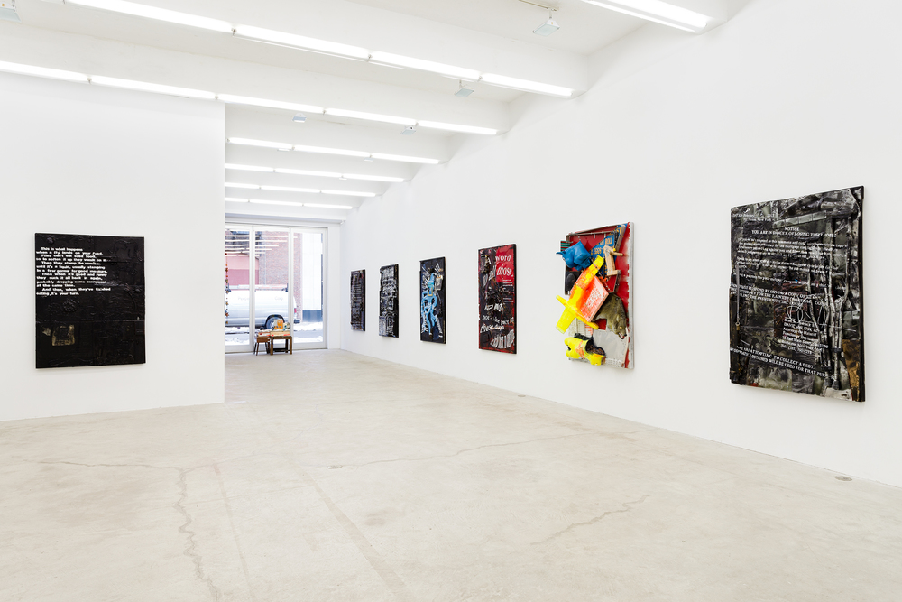 Installation view,  Justin Lieberman , Martos Gallery, New York, 2014