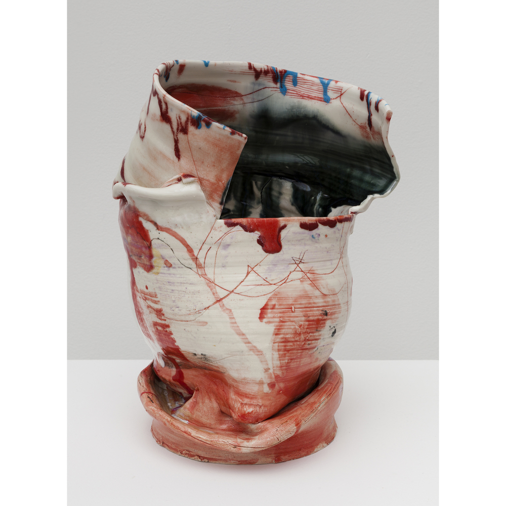 Jennie Jieun Lee,  Piano Sonata #18 in D Major , 2015, glazed stoneware, 12 x 8 x 7.5 in
