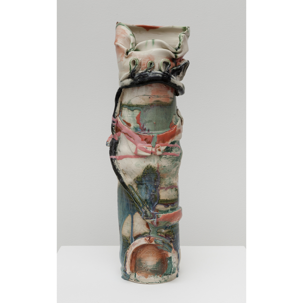 Jennie Jieun Lee,  Hungarian Dance #5 , 2015, glazed stoneware, 18.5 x 5.5 x 5 in
