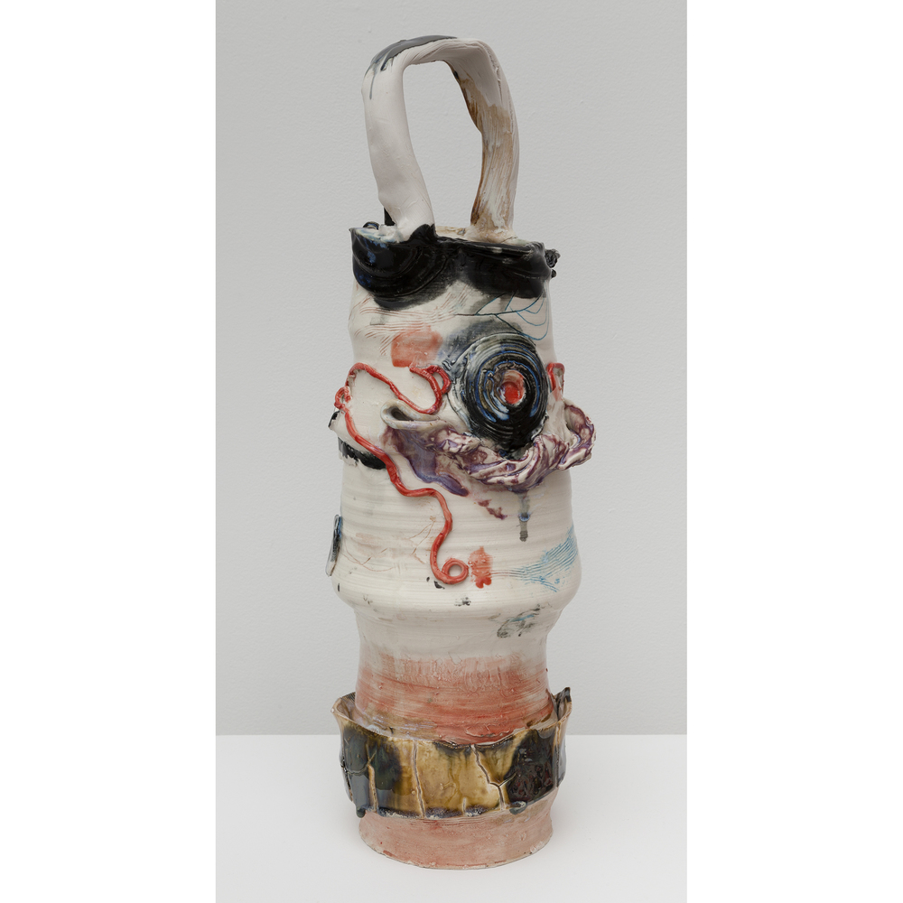 Jennie Jieun Lee,  Etudes Op. 25 , 2015, glazed stoneware, 21 x 7 x 5.75 in