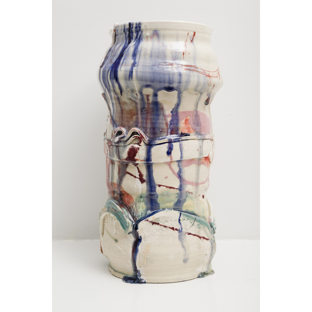 Jennie Jieun Lee,  Take It on the Arches , 2015, glazed stoneware, 14 x 7 x 6.5 in