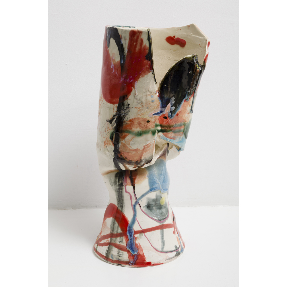 Jennie Jieun Lee,  Nerfertiti , 2015, glazed stoneware, 13 x 5 x 5.75 in