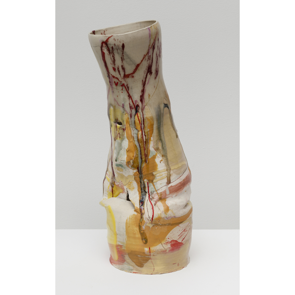 Jennie Jieun Lee,  Polaniase in A , 2015, glazed stoneware, 17 x 7 x 5.75 in
