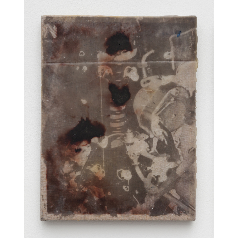 JPW3,  Strut B , 2015, wax and mixed media on canvas, 12 x 9 in
