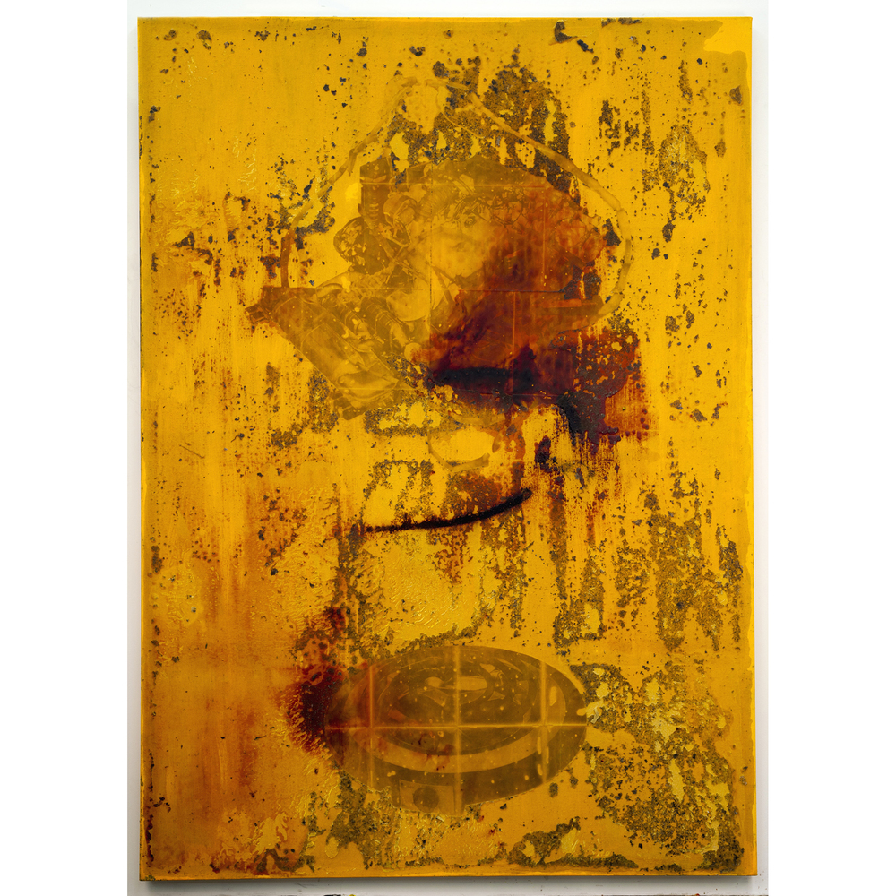 JPW3,  SSB w/ F w/O , 2015, wax, ink and acrylic on canvas, 84 x 60 in