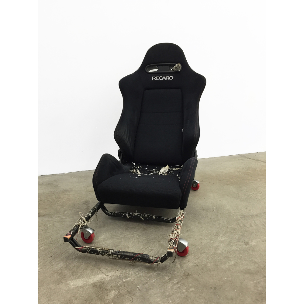 JPW3,  RECARO Wheely Chair 1 , 2015, RECARO car seat, rolling carts, sage, 42 x 37 x 19 in