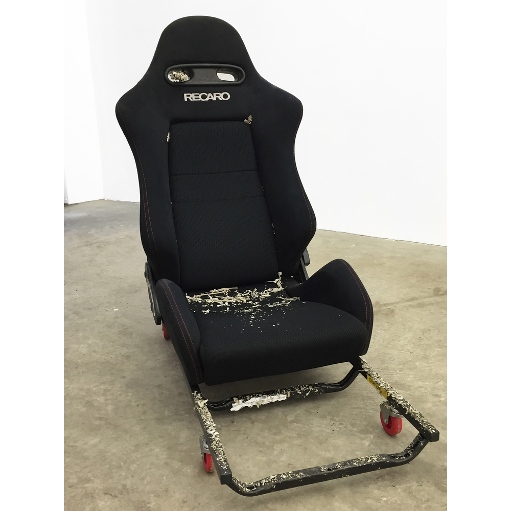 JPW3,  RECARO Wheely Chair 2 , 2015, RECARO car seat, rolling carts, sage, 42 x 37 x 19 in