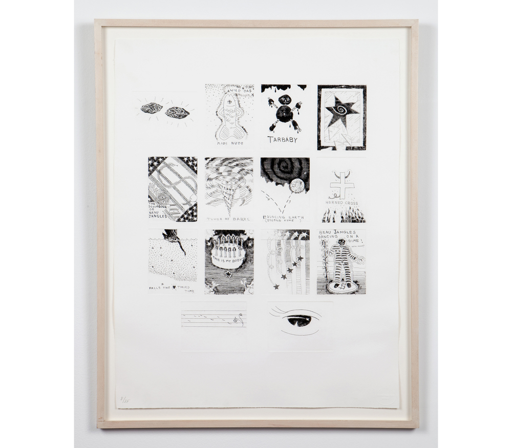 Paul Thek,  Untitled , 1975/92, etching on handmade Twinrocker paper, 26.25 x 20 in, Edition 8/25