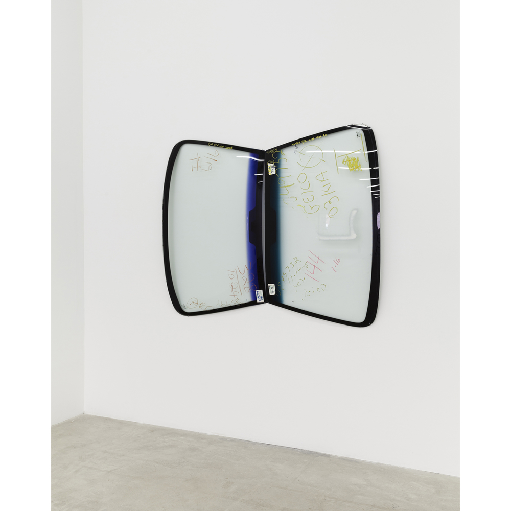 Martin Soto Climent,  Mariposa (Butterfly) , 2013, two automobile windshields, 53 x 52 x 3.25 in
