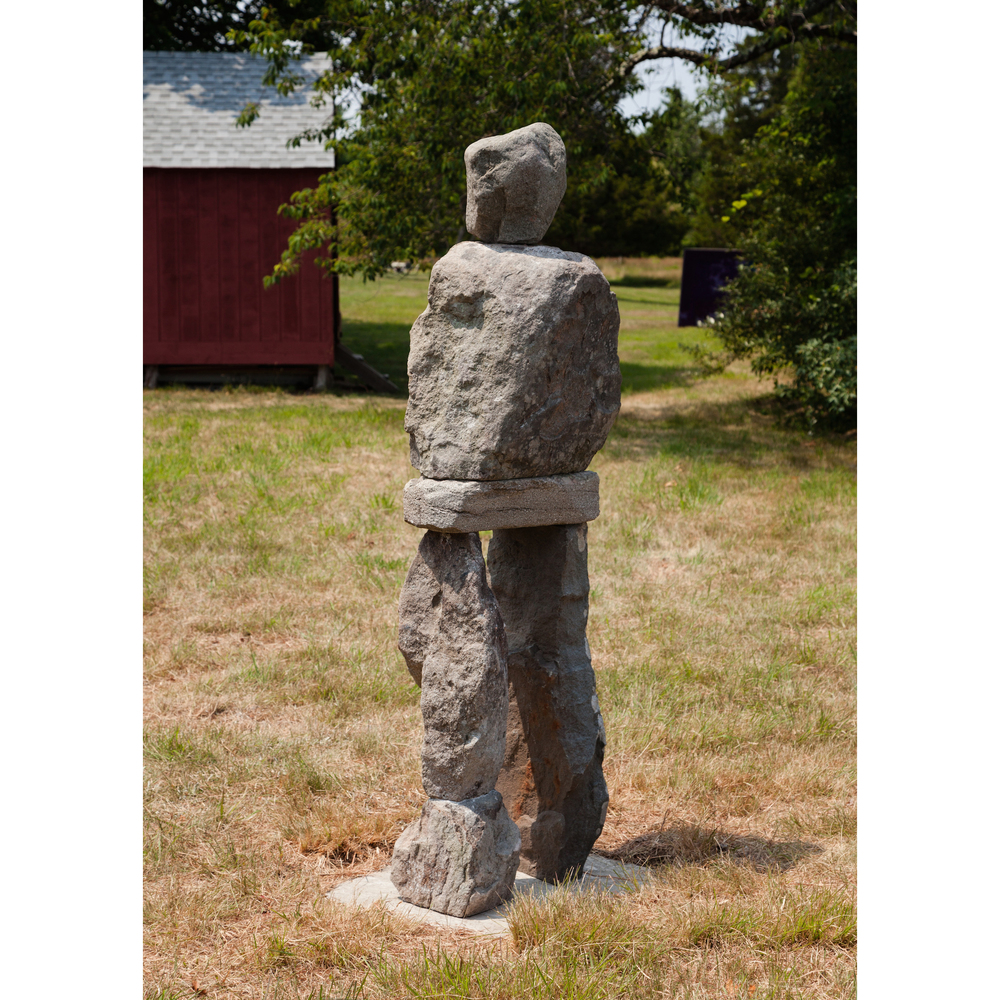 Ugo Rondinone,    The Foolish   , 2014, bluestone and steel, 75 x 21 x 18 in