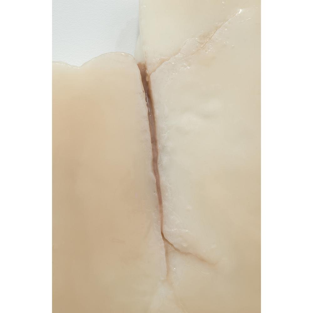 detail: Ivana Basic, Ungrounding , 2014,wax, silicon, linoleum,19.5 x 13 x 2.5 inches