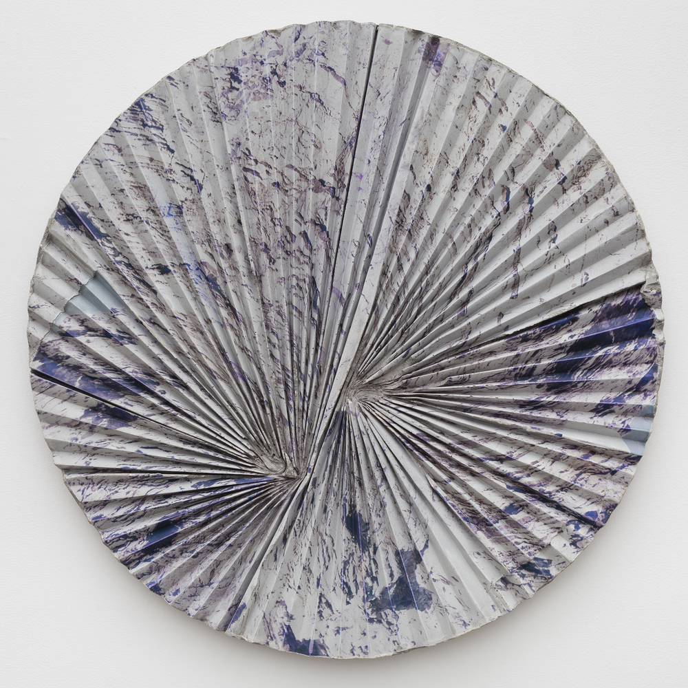 Letha Wilson,  Headlands Concrete Ripple Tondo , 2015, concrete, emulsion transfer, 30 x 30 x 2 in
