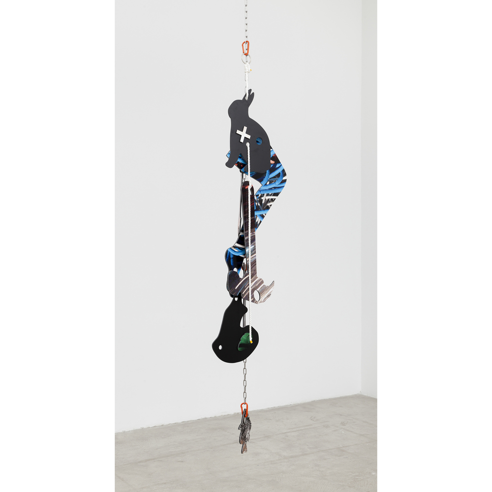 Kate Steciw,  Construction 004 , 2015, dye-sub on aluminum mounted to sintra, 79 x 22 x 18 in