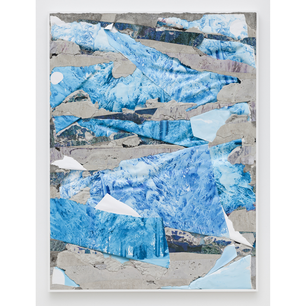 Letha Wilson,  Rabbit Ears Pass Concrete Bend , 2015, unique c-prints, concrete, emulsion transfer, aluminum frame, 60.375 x 45.5 x 2 in