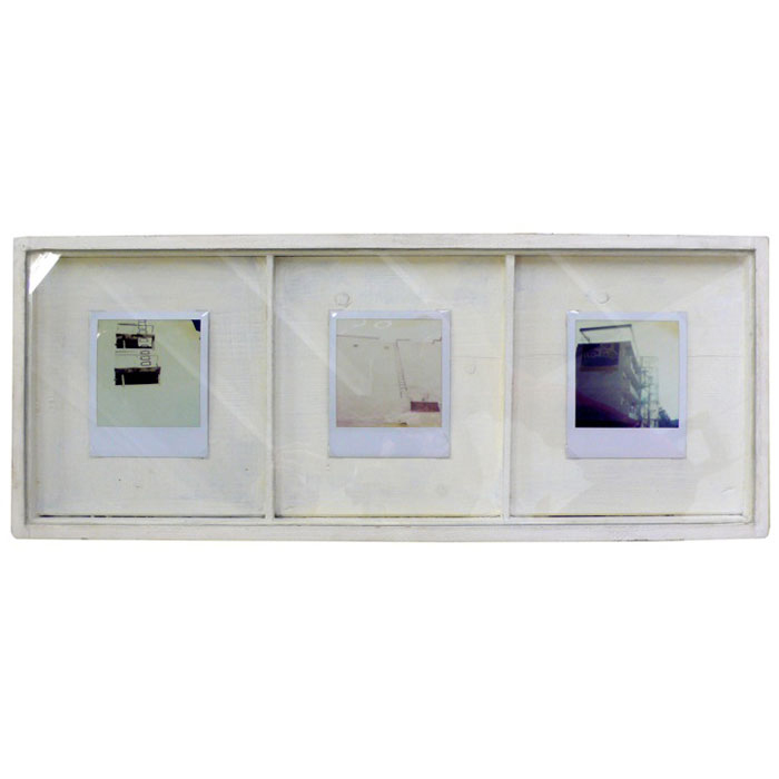 Tim Braden,  Steps , 2006, polaroids in handmade frame, 8.6 x 20.5 in