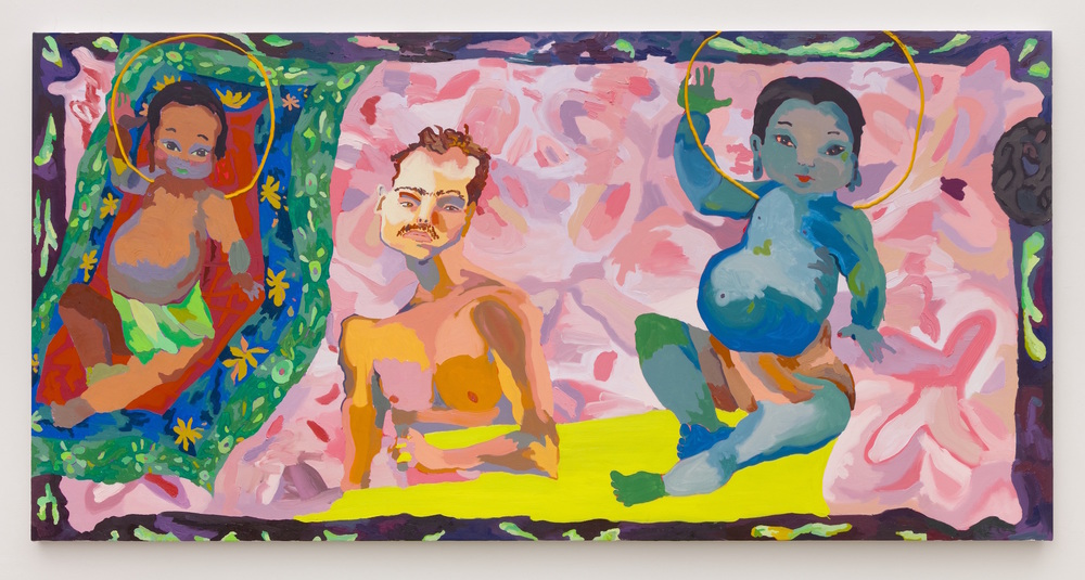 Alex Chaves,  Baby Alex Baby , 2016, oil on canvas, 48 x 96 in