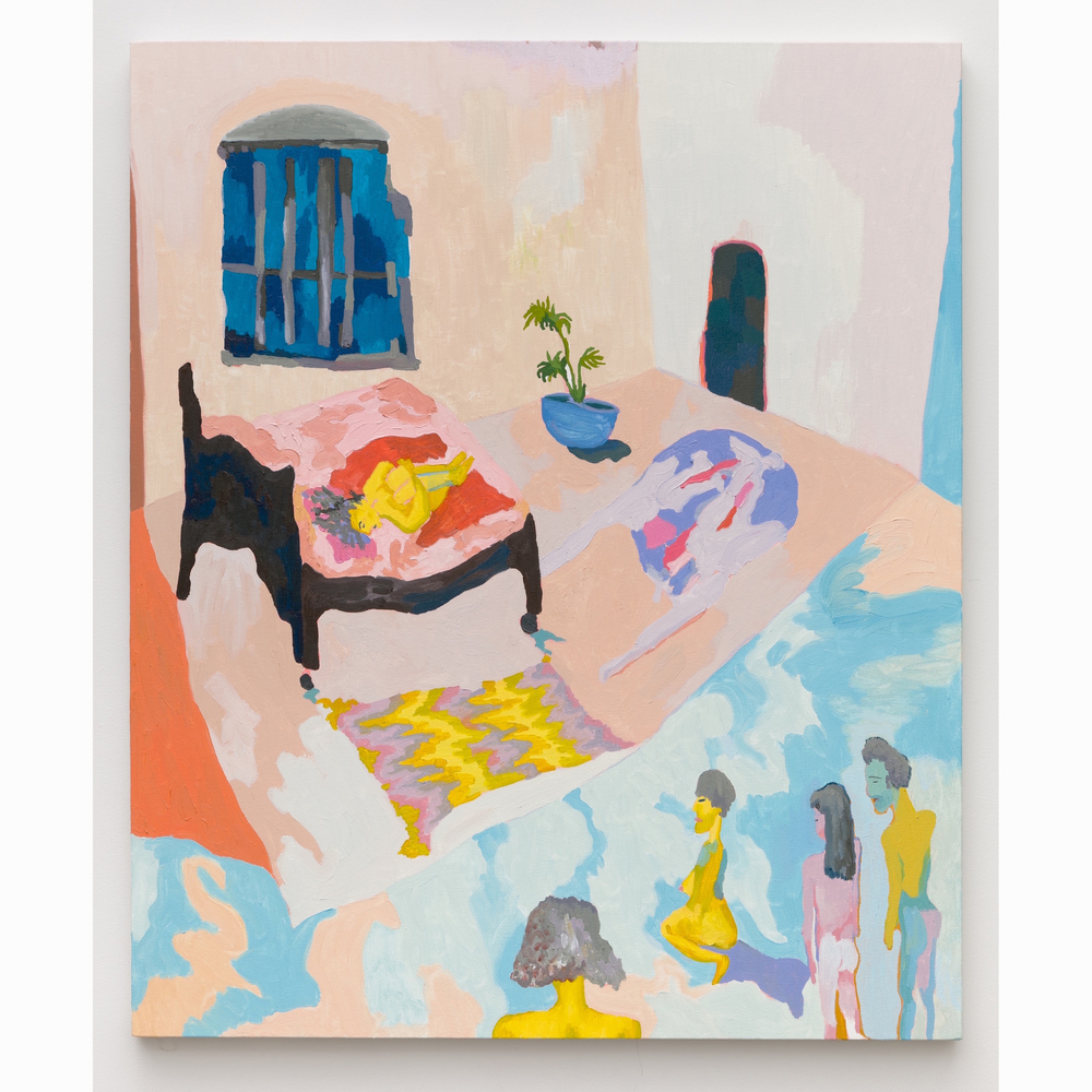 Alex Chaves,  Bedroom , 2016, oil on canvas, 48 x 40 in