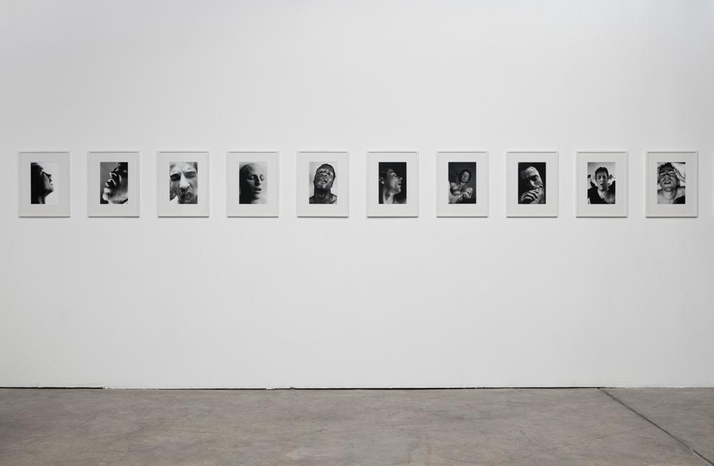 Aura Rosenberg, Head Shots , 1991-1996, silver gelatin prints, series