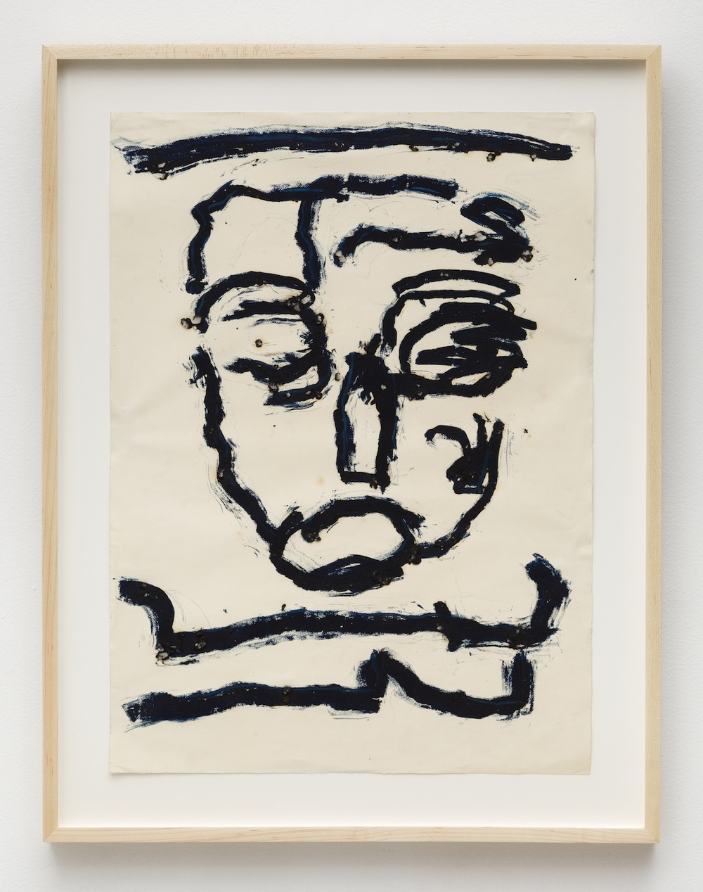 Dan Asher,  Untitled , 1980s, oil stick on paper, 26 x 19 in.