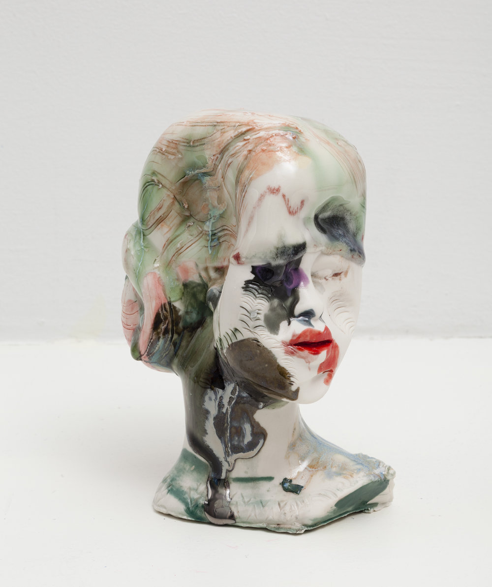 Jennie Jieun Lee,  Queen Bee , 2015, porcelain slip cast, glaze, 6 x 3.5 x 3.75 in.